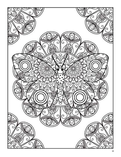 Relaxing Butterflies: Butterfly Mandala Coloring Book image 7
