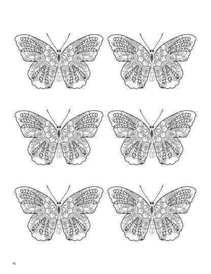 Relaxing Butterflies: Butterfly Mandala Coloring Book image 8