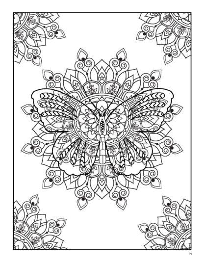 Relaxing Butterflies: Butterfly Mandala Coloring Book image 9