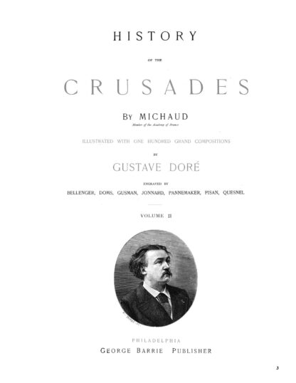History of the Crusades Volume 2 Gustave Dore Restored Special Edition image 1
