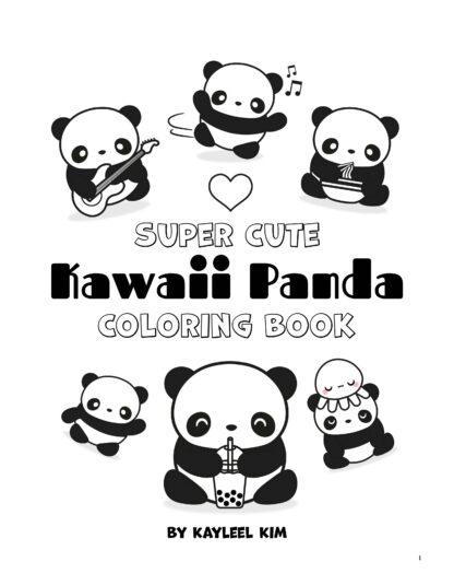 Super Cute Kawaii Panda Coloring Book: Mega Adorable Edition image 1
