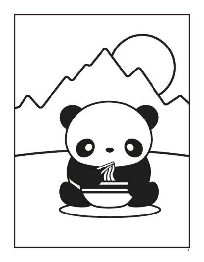 Super Cute Kawaii Panda Coloring Book: Mega Adorable Edition image 2