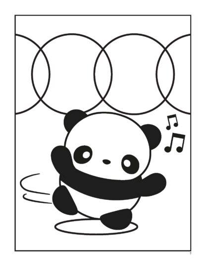 Super Cute Kawaii Panda Coloring Book: Mega Adorable Edition image 3