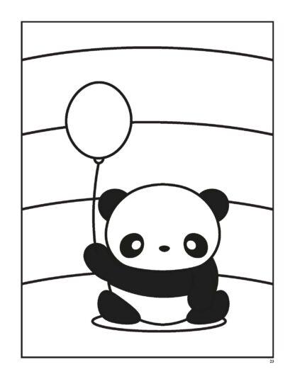 Super Cute Kawaii Panda Coloring Book: Mega Adorable Edition image 5