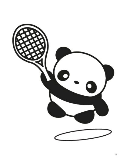 Super Cute Kawaii Panda Coloring Book: Mega Adorable Edition image 6