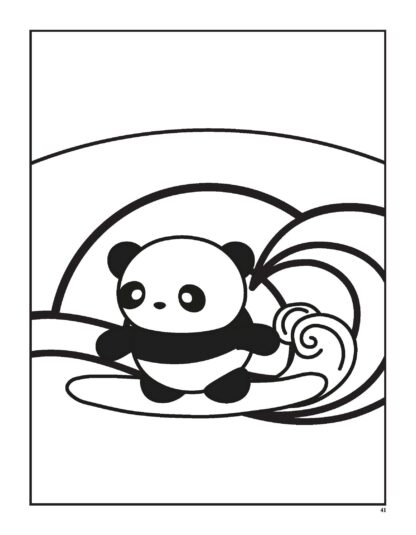 Super Cute Kawaii Panda Coloring Book: Mega Adorable Edition image 7