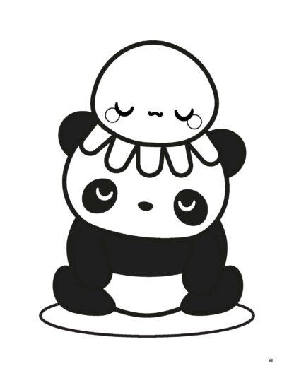 Super Cute Kawaii Panda Coloring Book: Mega Adorable Edition image 9