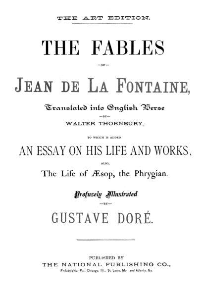 The Fables of Jean de La Fontaine Volume 1: Gustave Doré Restored Special Edition image 1