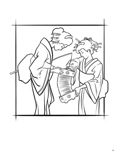 Geisha Japanese Art Coloring Book for Adults: Volume 1 image 4
