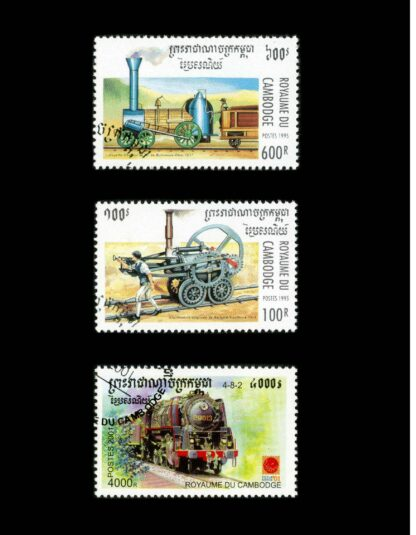 101 Trains on Stamps Volume 1: The Art of Locomotives on Postage Stamps image 5
