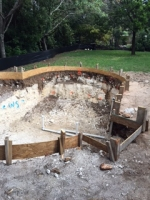 JKD Builder's latest pool project is actually a 'spool' – a combo pool and spa ideal for smaller spaces. Forms are being set for this lovely Hills of Lakeway project.