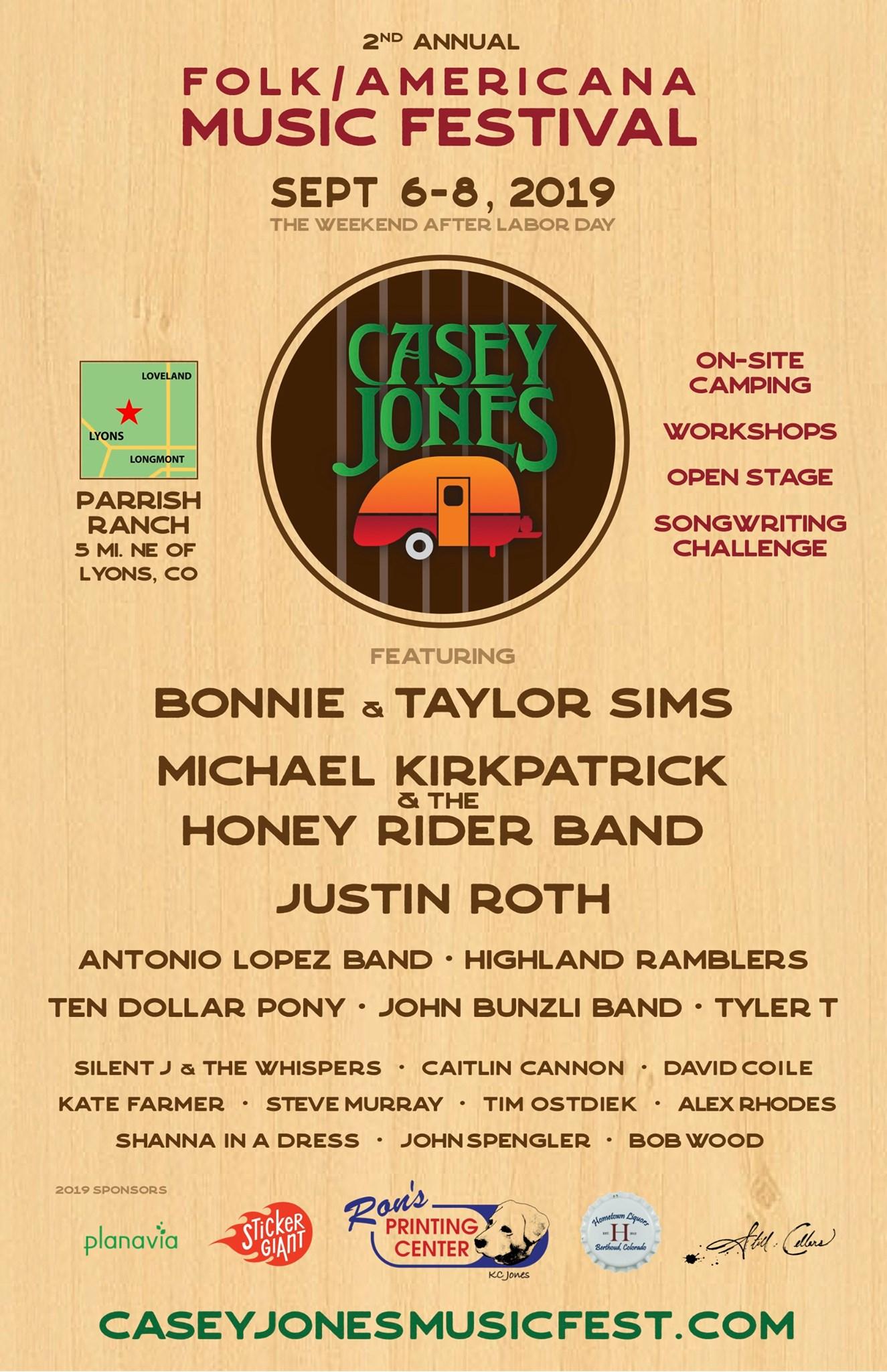 CASEY JONES MUSIC FESTIVAL
