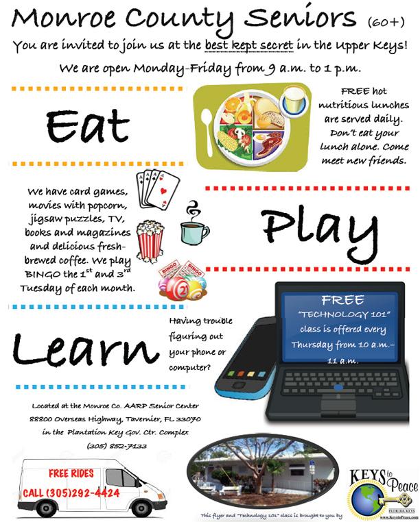 eat play learn flyer for seniors