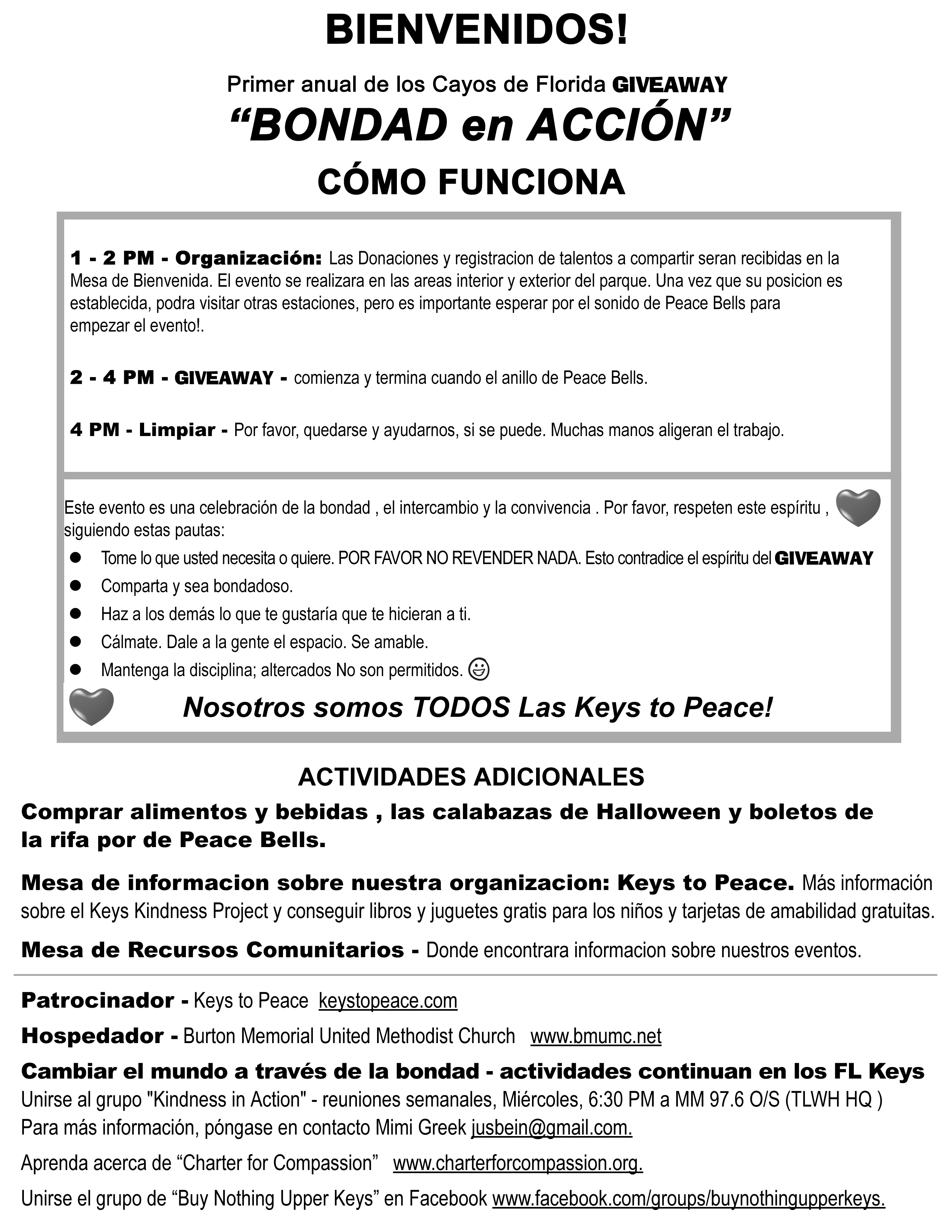 giveaway instructions (Spanish)