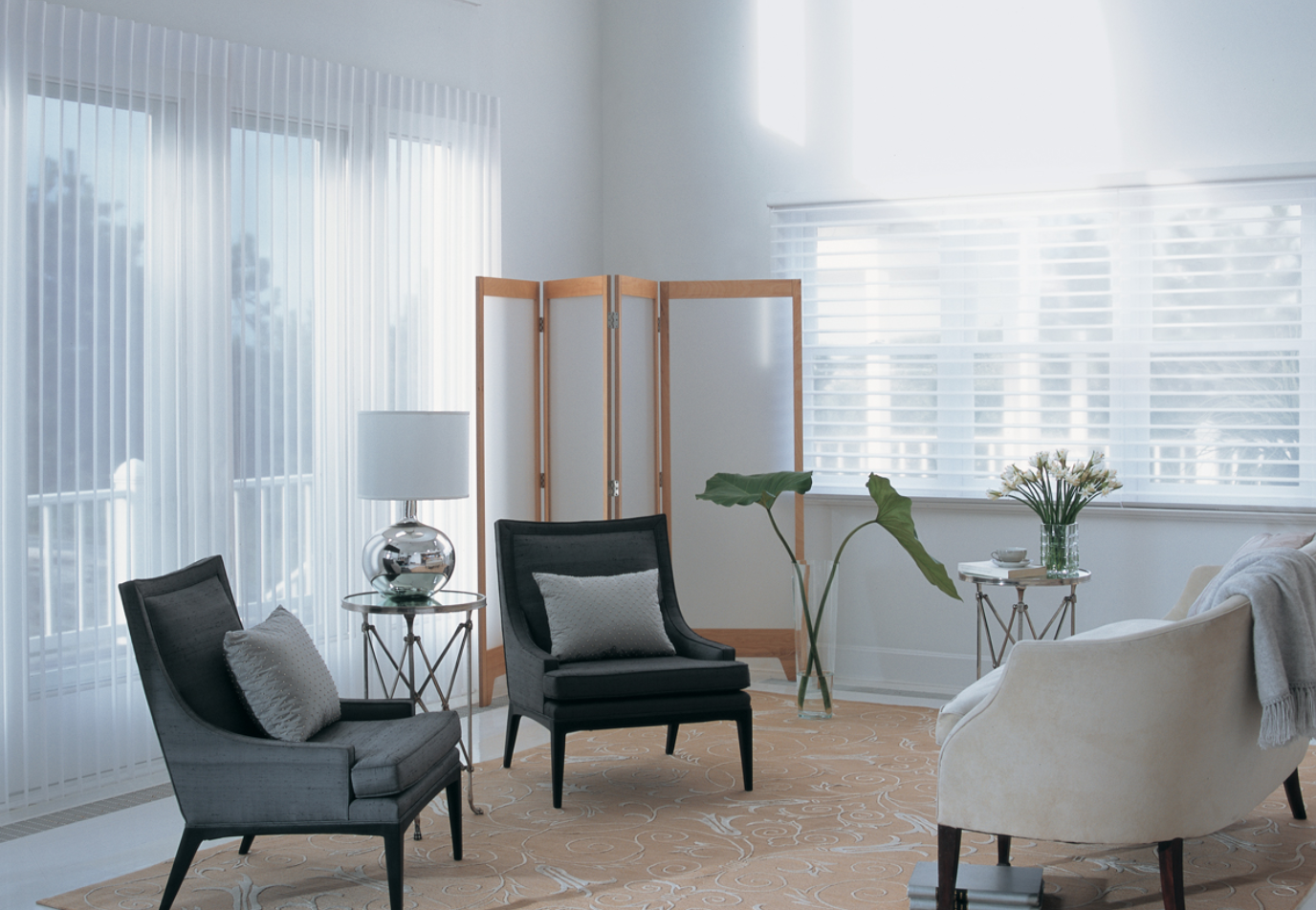 Beautiful Room with modern blinds