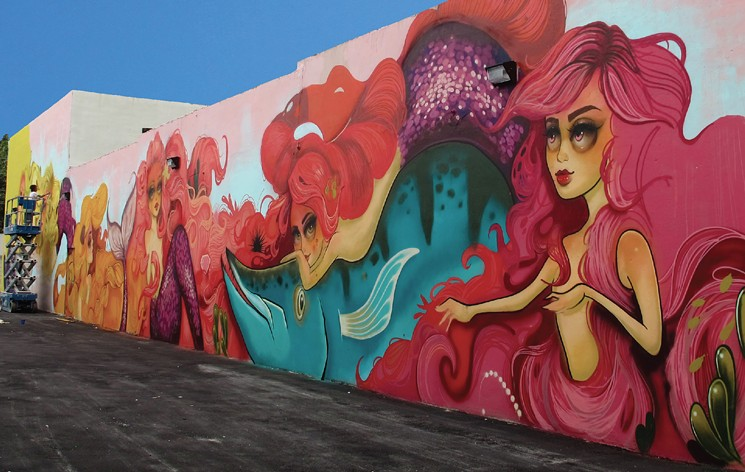 Mural Painted on side of building in downtown Hollywood