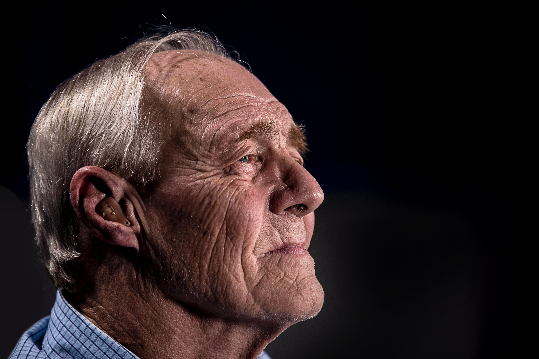 Older man's face- right side