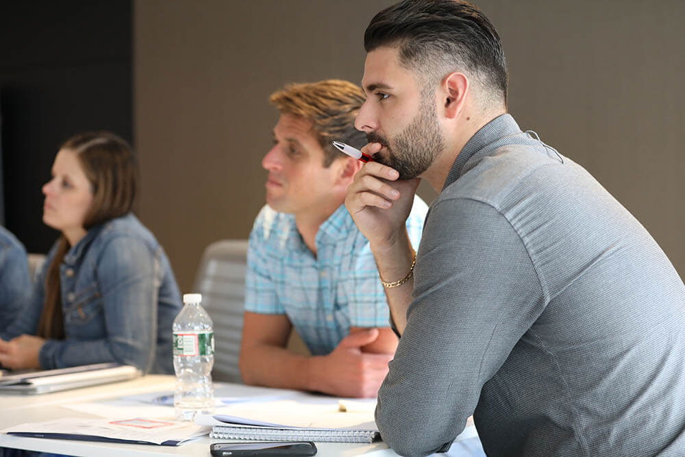 Students at an employee training and professional development workshop