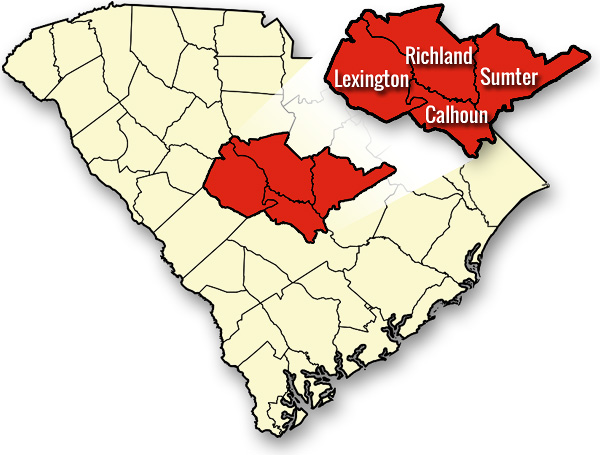 Columbia SC Pressure Washing Service Area