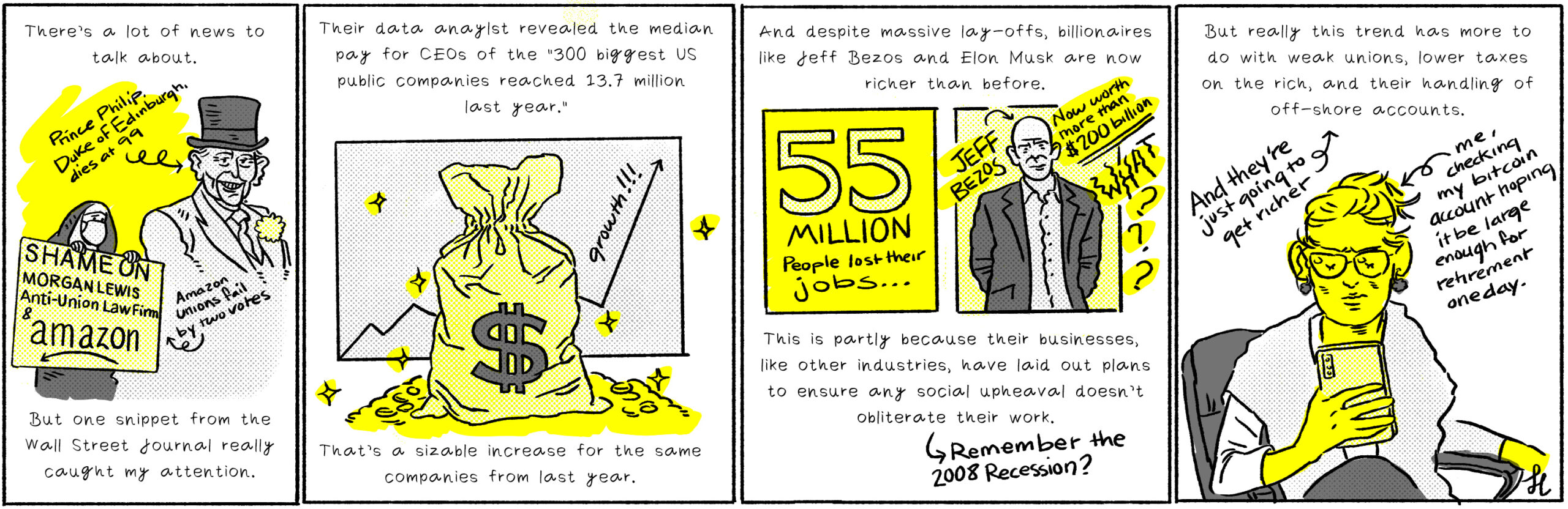 The mega-wealthy are only getting richer—Cartoon