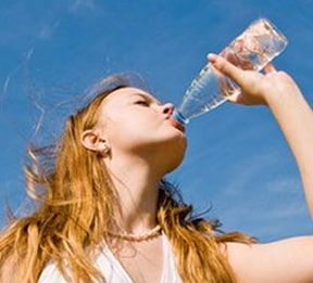 Keeping your body properly hydrating is a must in fighting dry skin.