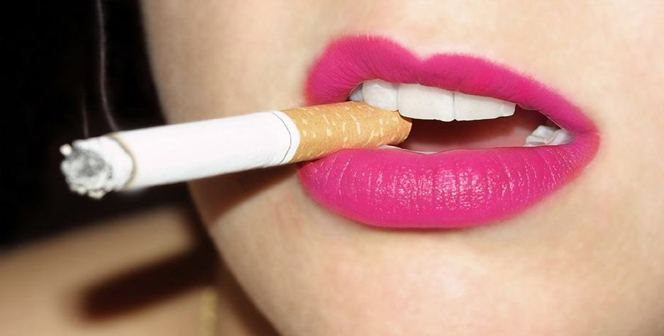 Smoking can turn your lips black and cause wrinkles to form and deepen around you mouth more commonly known as smokers lines.