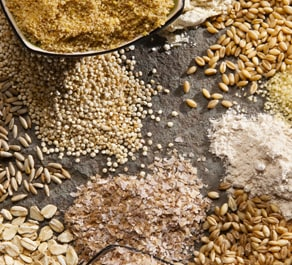 Whole grains are fabulous for our skin because they are unprocessed.