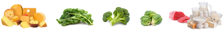 Sources of Vitamin K2 include butter and other high fat dairy products), egg yolks, liver, fermented soybeans, sauerkraut, fermented soya and cheese.