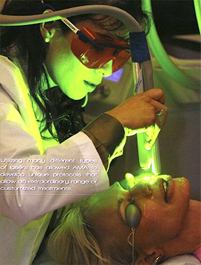 Alice Pien MD performs the SpectraLift Non-Surgical Laser Face Lift on Bree Walker