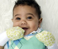 Scratch Mittens will help keep your baby from scratching