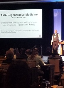 Dr. Milgrom speaking at the American Academy of Ozonotherapy international conference
