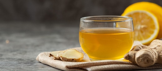Making your own ginger tea will help with blood circulation.