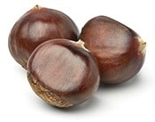 Horse chestnuts are known to strengthen the veins and also reduce inflammation.