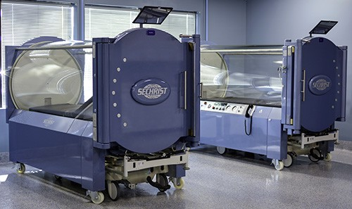 We have two new Sechrist Hyperbaric Chambers at our Orange County location.