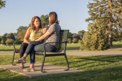 Christy Belz Talking with Client