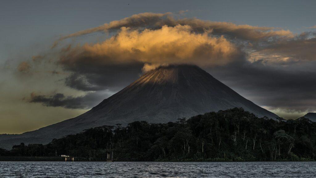 Volcano erupting on St. Vincent