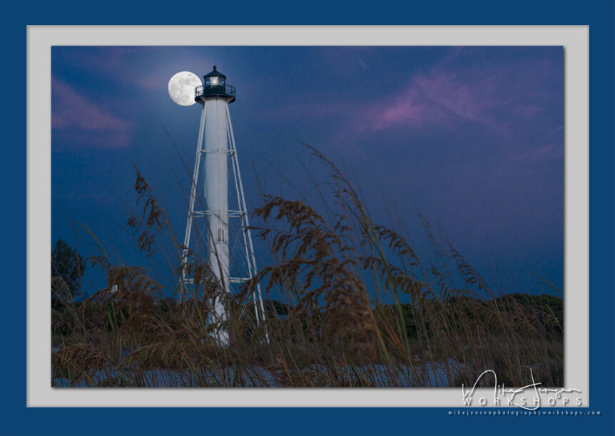 Moonrise Over Gasparilla Island - Fine Art Photography By Mike Jensen