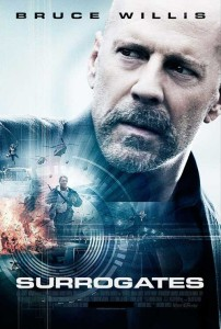 Surrogates and Bruce Willis and Rosamund Pike and Radha Mitchell