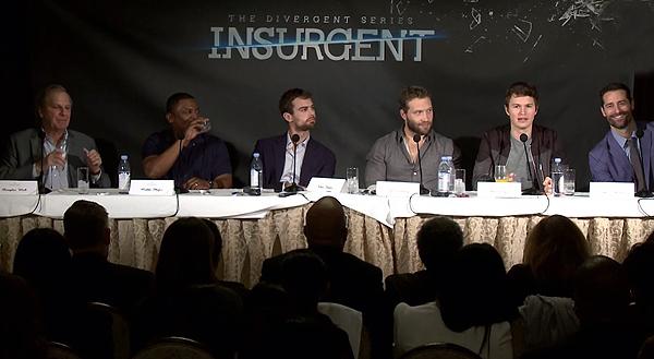 Insurgent Junket with Douglas Wick (producer), Mekhi Phifer, Theo James, Jai Courtney, Ansel Elgort and Todd Lieberman (producer)