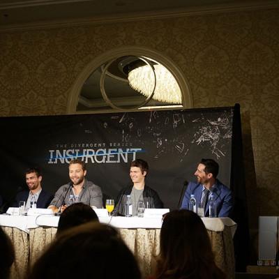 Mandeville Films EP Todd Lieberman on Insurgent junket panel at the Beverly Hills Four Seasons Hotel with co-producer Douglas Wick, Mekhi Phifer, Theo James, Jai Courtney & Ansel Elgort.