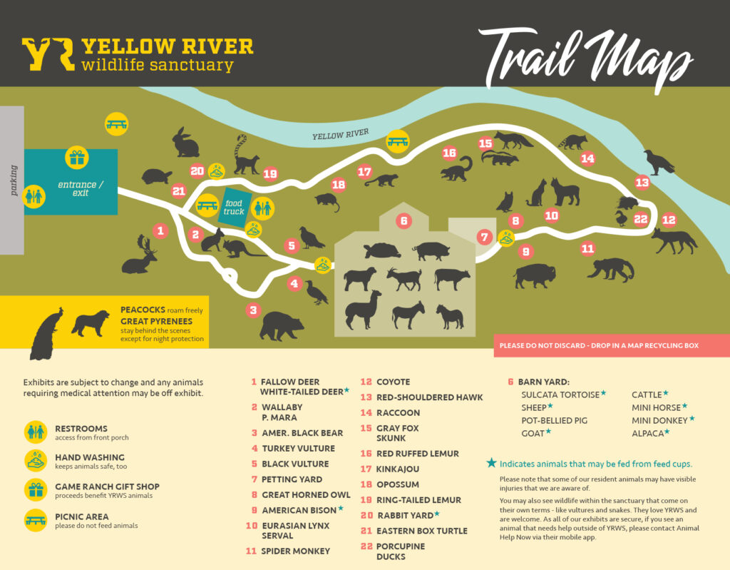 Yellow River Wildlife Sanctuary Trail Map