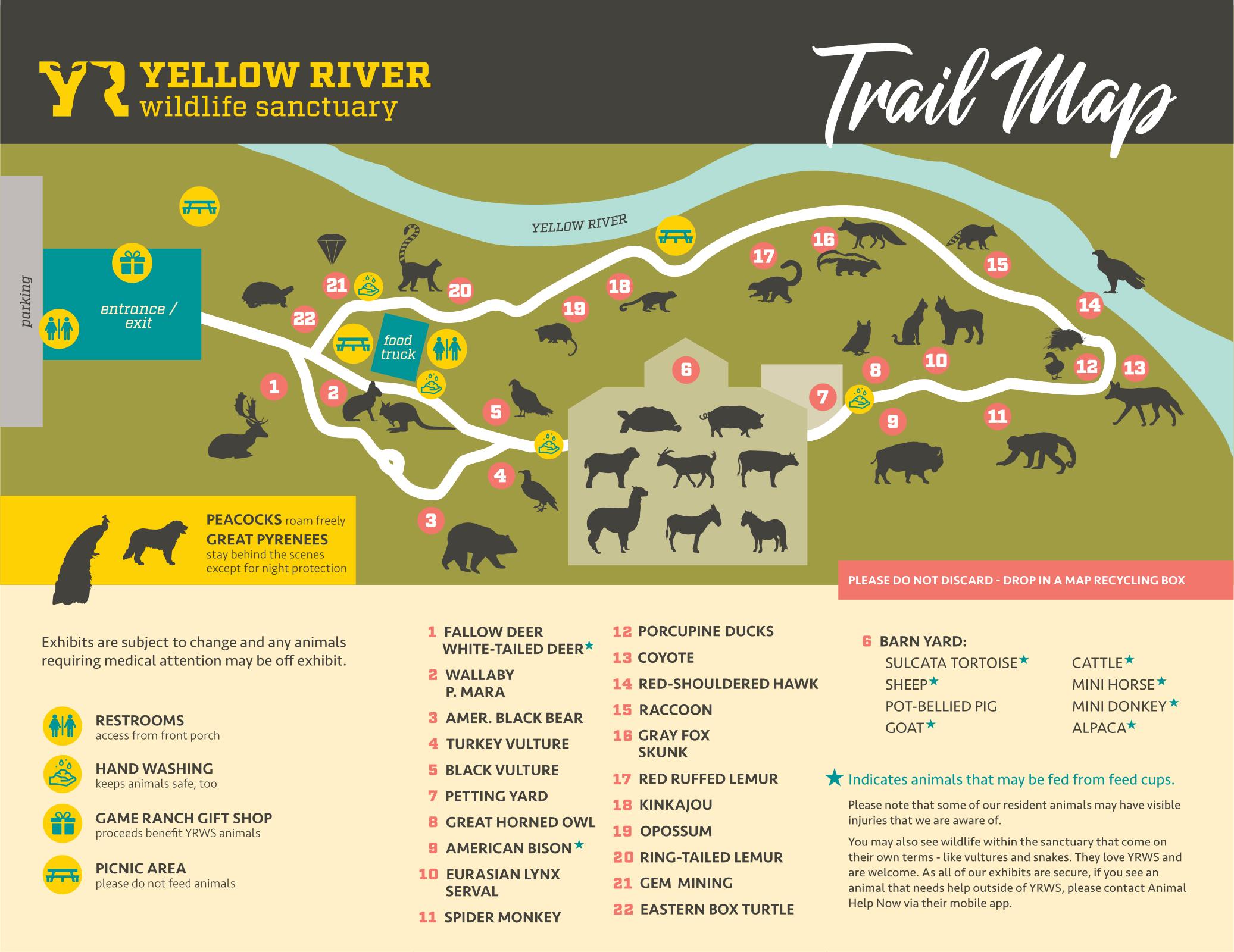 Yellow River Wildlife Sanctuary Trail Map