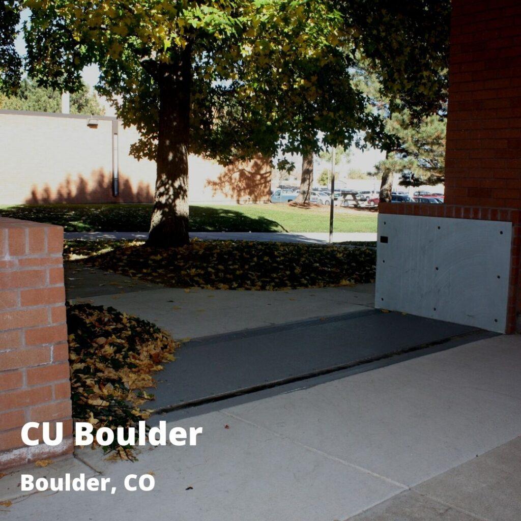 passive floodgates at CU Boulder