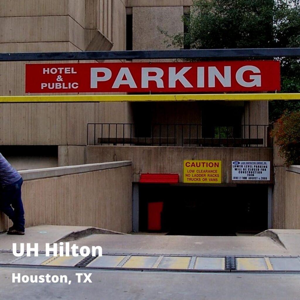 floodgates at Hilton hotel
