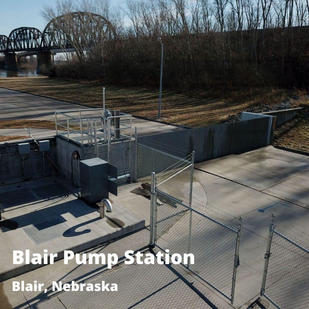 passive flood barrier at Blair Pump Station