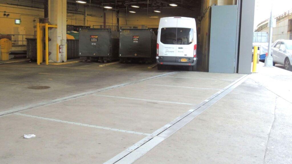 FloodBreak vehicle flood gate in garage