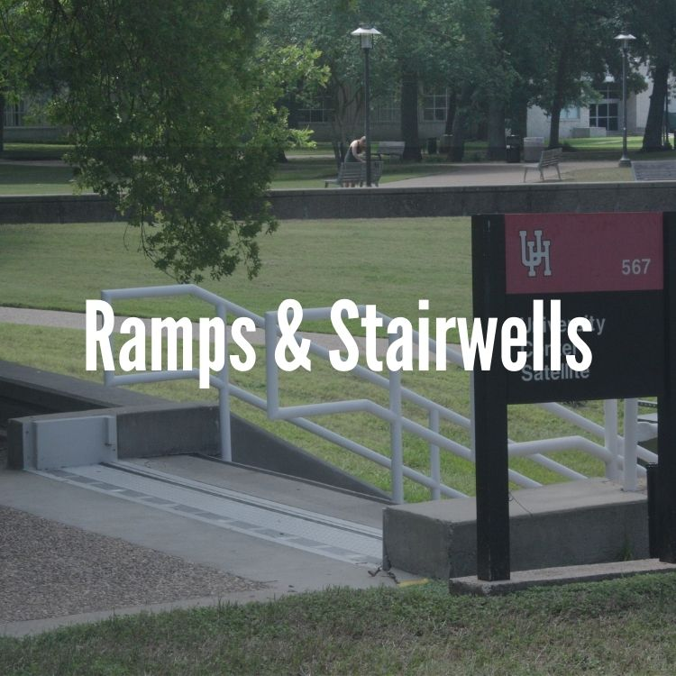 passive flood barrier on stairs