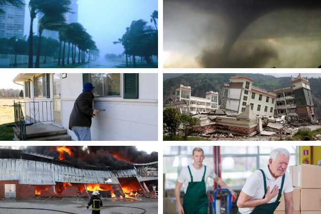 Your emergency action plan should include preparations for different types of situations like storms, fires, and medical emergencies.