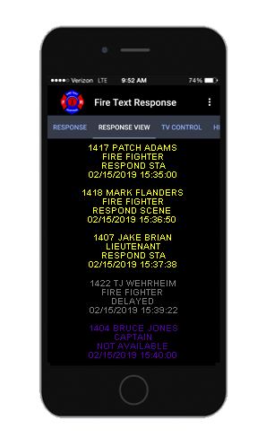 The firefighter pager developed by Fire Text Response can alert firefighters of emergencies quickly.