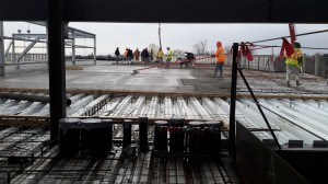 pouring concrete for gretna